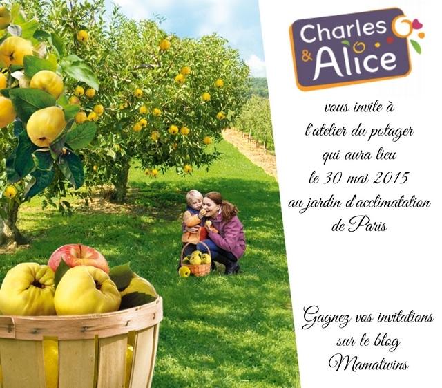 Gagnez vos invitations pour les ateliers du potager de Charles & Alice