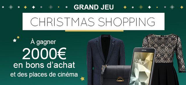 Participez au Grand Jeu Christmas Shopping organisé par iGraal